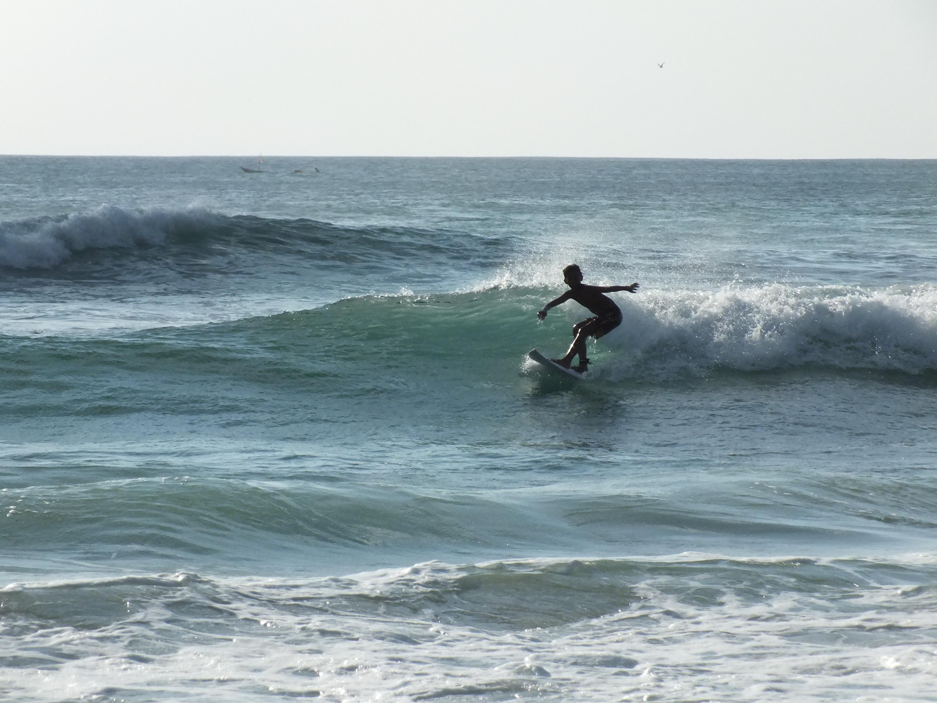 波が小さな日は子供の練習にも最適