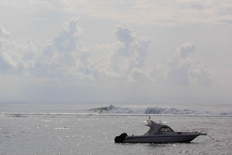 バリビーチホテル正面から見える景色、ゲッティングアウトはこのあたりからカレントに流されながら沖に出ます。